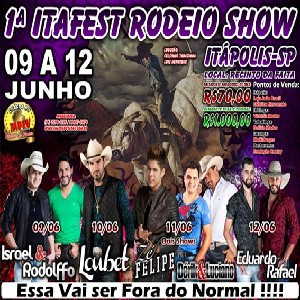1ª Itafest Rodeio Show Itápolis/SP